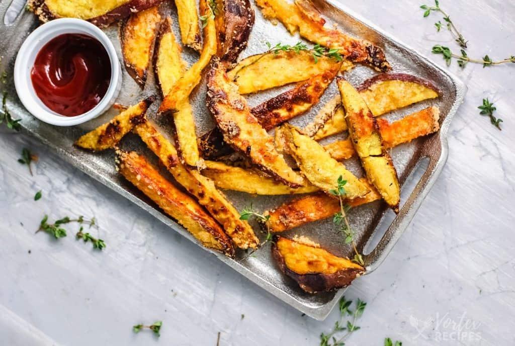 Vortex Air Fryer Parmesan Crusted Sweet Potato Fries