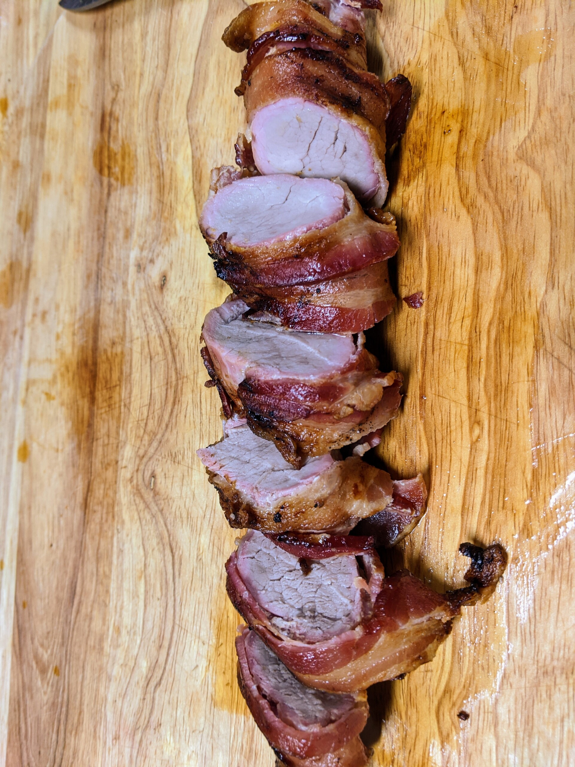 Vortex Air Fryer Sweet Bacon Wrapped Pork Tenderloin