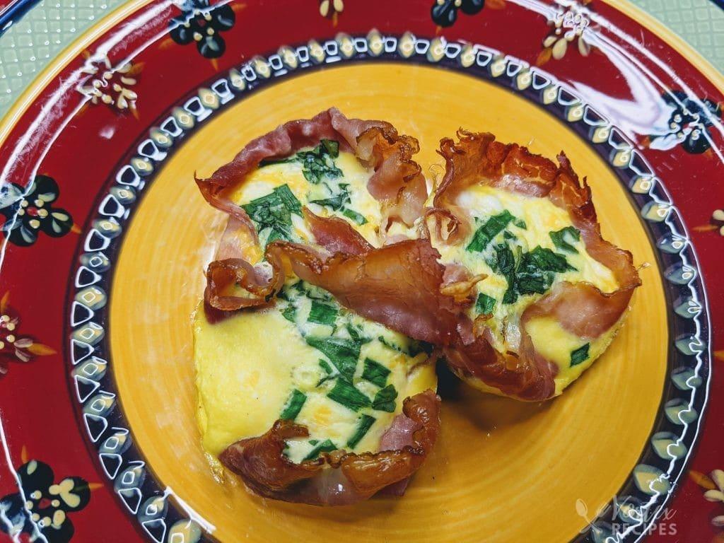 Instant Vortex Egg & Cheese Ham Cups