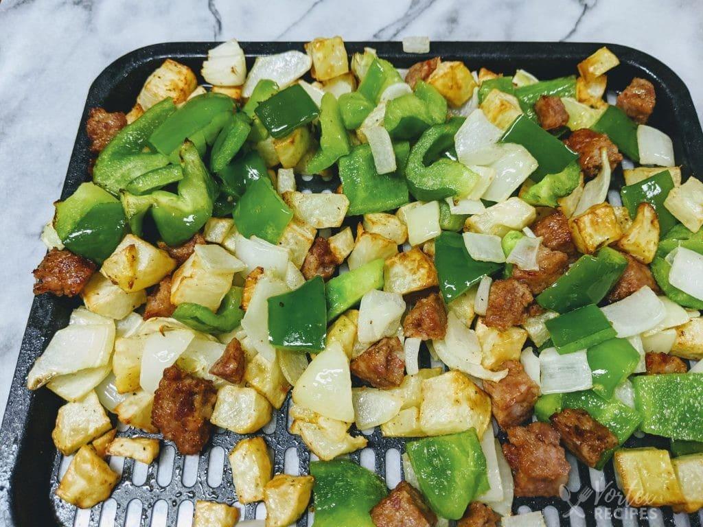 Instant Vortex Air Fryer Sausage, Potato & Bell Pepper Hash