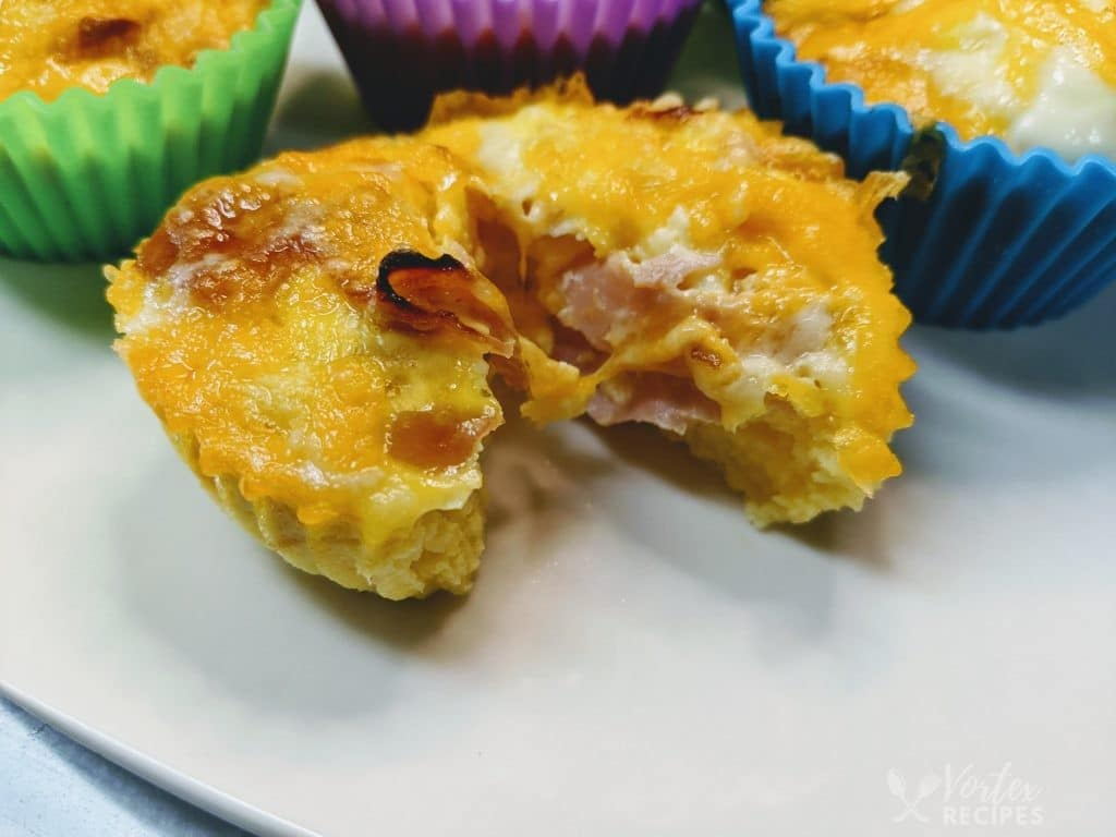 Vortex Air Fryer Mini Egg, Ham, and Cheese Quiche