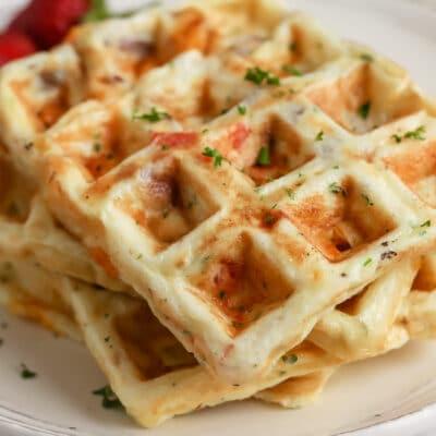 Egg Waffles on a plate