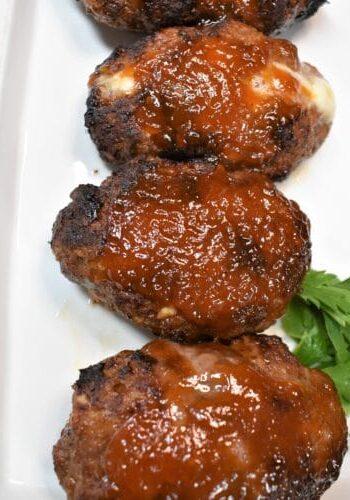 Vortex Air Fryer Mini Bourbon Gouda Stuffed Meat Loaves